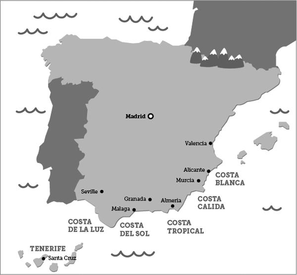 Overzicht van de Spaanse Costa's